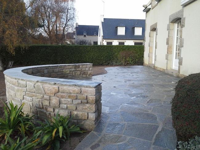 muret pour terrasse trendy muret fleuri with muret pour terrasse great rondins with muret pour. Black Bedroom Furniture Sets. Home Design Ideas